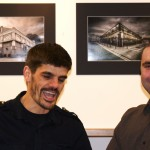 Justin Garner and Jack Henriques at the Mancheser and Beyond Exhibtion